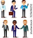 illustration of business people ... | Shutterstock .eps vector #525658252