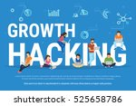 growth hacking concept... | Shutterstock . vector #525658786