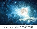 night sky with stars and full... | Shutterstock . vector #525662332