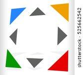 multicolor geometric icon  logo ... | Shutterstock . vector #525662542