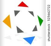 multicolor geometric icon  logo ... | Shutterstock . vector #525662722