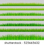 green grass borders set on... | Shutterstock .eps vector #525665632
