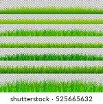 green grass borders set on... | Shutterstock .eps vector #525665632