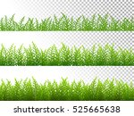 green grass borders set on... | Shutterstock .eps vector #525665638