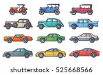 car history illustration in... | Shutterstock .eps vector #525668566