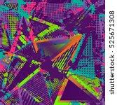 abstract urban pattern. grunge... | Shutterstock . vector #525671308