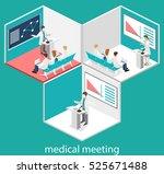 isometric flat 3d concept... | Shutterstock .eps vector #525671488