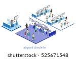 isometric flat 3d concept... | Shutterstock .eps vector #525671548