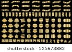 ribbon banner label gold vector ... | Shutterstock .eps vector #525673882