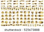 ribbon banner label gold vector ... | Shutterstock .eps vector #525673888