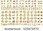 label ribbon banner gold vector ... | Shutterstock .eps vector #525673972