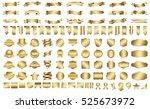 label ribbon banner gold vector ... | Shutterstock .eps vector #525673972