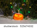 Jack O Lantern Pumpkin Head An...