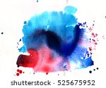 colorful abstract watercolor... | Shutterstock . vector #525675952