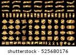 banner ribbon label gold vector ... | Shutterstock .eps vector #525680176