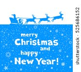 the christmas greetings from... | Shutterstock .eps vector #525686152