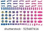 label ribbon banner blue vector ... | Shutterstock .eps vector #525687616