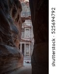 the end of the siq passageway... | Shutterstock . vector #525694792