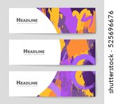 abstract vector layout... | Shutterstock .eps vector #525696676