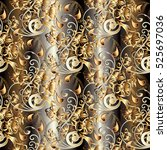 paisley seamless pattern....   Shutterstock .eps vector #525697036