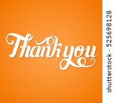 thank you handwritten text... | Shutterstock .eps vector #525698128