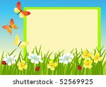 meadow and message board. ... | Shutterstock .eps vector #52569925