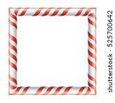 frame  christmas candy ... | Shutterstock .eps vector #525700642