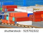 port cargo container in port of ... | Shutterstock . vector #525702322