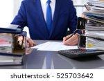 bookkeeper or financial... | Shutterstock . vector #525703642