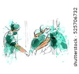 colored hand sketch operating... | Shutterstock .eps vector #525706732