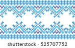 embroidered cross stitch... | Shutterstock .eps vector #525707752