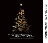 happy new year stylized lined...   Shutterstock .eps vector #525709612