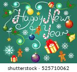 happy new year  holiday ... | Shutterstock .eps vector #525710062