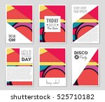 abstract vector layout... | Shutterstock .eps vector #525710182