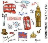 Set Of England Symbols...