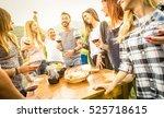 young friends having fun...   Shutterstock . vector #525718615
