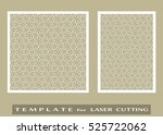 abstract cutout panels set for... | Shutterstock .eps vector #525722062