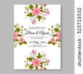 elegance wedding invitation... | Shutterstock .eps vector #525723532