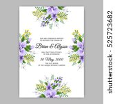 elegance wedding invitation... | Shutterstock .eps vector #525723682