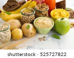 assortment of products rich of... | Shutterstock . vector #525727822