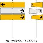 vector arrows traffic signs...   Shutterstock .eps vector #5257285