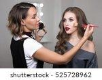 makeup process  makeup artist ... | Shutterstock . vector #525728962