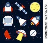 spacecraft vector illustration... | Shutterstock .eps vector #525737572