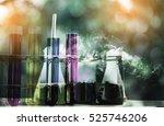 double exposure of science... | Shutterstock . vector #525746206