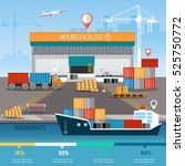 warehouse infographics ... | Shutterstock .eps vector #525750772