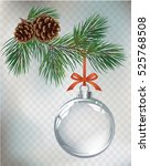 vector christmas fir tree and... | Shutterstock .eps vector #525768508