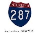 interstate sign | Shutterstock . vector #52577011