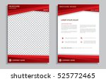 red flyer design template  ... | Shutterstock .eps vector #525772465
