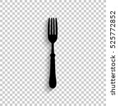 fork   black vector  icon with... | Shutterstock .eps vector #525772852
