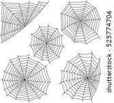 spider web silhouette vector set | Shutterstock .eps vector #525774706
